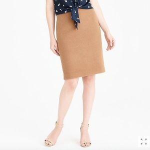 J. Crew Mercantile Pencil Skirt Double Serge Wool
